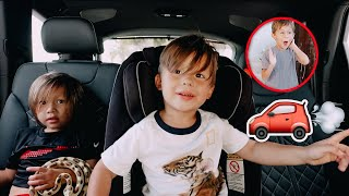 the kids reaction to our new family car!!