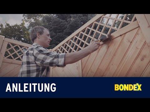 Wie streicht man Holzschutzwände, Sichtschutz- und Gartenzäune aus Holz richtig? | Bondex Video