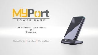 MyPort Power Bank, Wireless Charger, & Stand