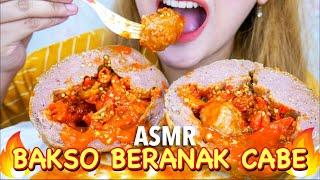 #47 Request ASMR Eating Sounds : BAKSO BERANAK CABE (Whispered) | ASMR Indonesia #Ad