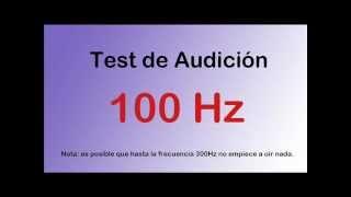 Test de audición auditivo desde graves a agudos - Hearing test