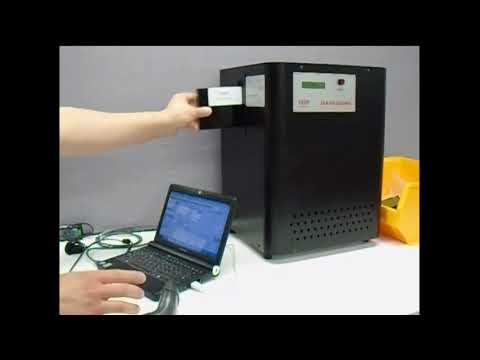 Video of the Verity Datagone LG Automatic Hard Drive and Backup Tape Degausser with Erasure Log Software Shredder