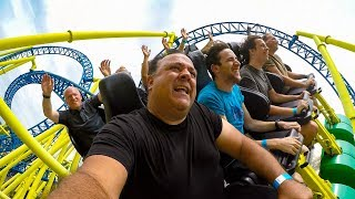 Riding the AWESOME Impulse Roller Coaster at Knoebels! Multi Angle 4K POV