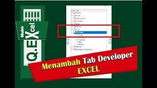 Cara Menambah  Tab Developer di EXCEL 2010 2013 2016