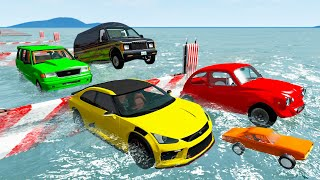 Cars Water Test #1 - Beamng drive
