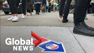 US election: Massive lines in New York City as early voting begins