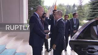 Turkey: Putin Arrives In Ankara For Trilateral Syria Summit