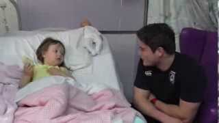 preview picture of video 'Cardiff Blues' Christmas visit to Noah's Ark Children's Hospital of Wales'