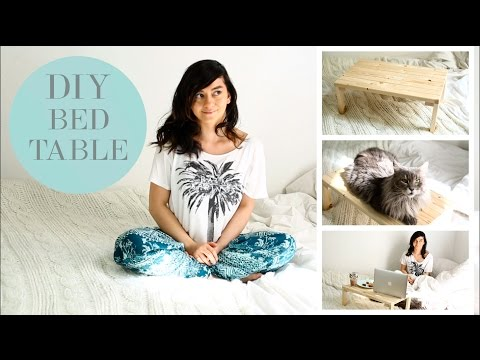 DIY simple & easy Breakfast in Bed Table  Betttisch Ablagetisch