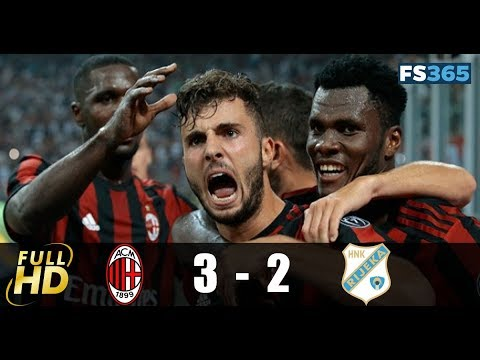 AC Milan vs Rijeka 3-2 Highlights & Goals - 28 September 2017
