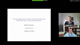 """Masha Krupenkin, """"The Advantages (and Limitations) of Using Individual-Level Web Search Data"""""""