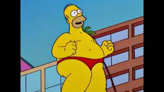 Когда лето настало, а ты всё ещё жирненький The Simpsons