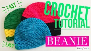 HDC Beanie - Fast Easy Crochet Hat Tutorial