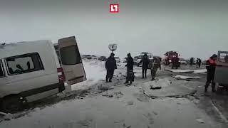 ГАЗель влетела в маршрутку в Ставрополье