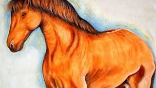 Pintando Um Cavalo- Pintura em Tecido