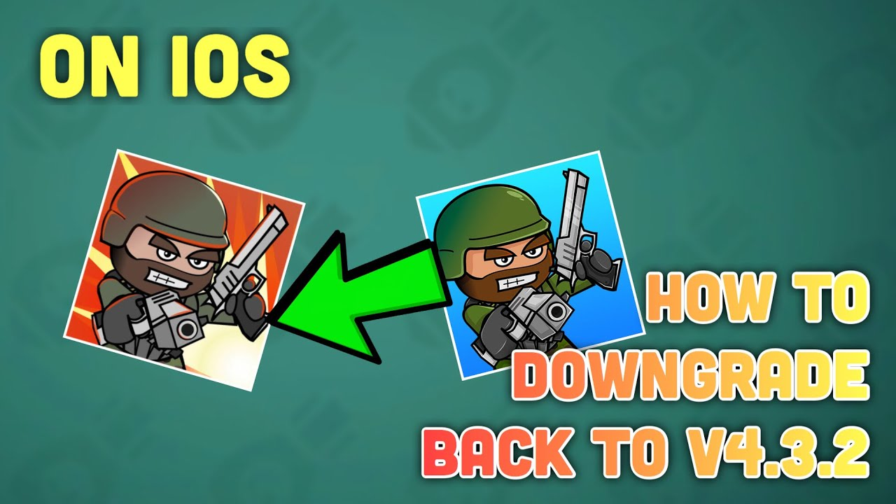 how to play mini militia old version in ios