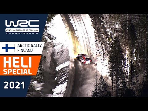 WRC 2021 第2戦のラリーフィンランド ヘリから見た映像のみを集めたハイライト動画