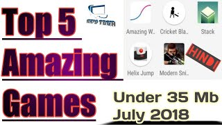 Top 5 Amazing Games | June 2018 |in Hindi By Rk
