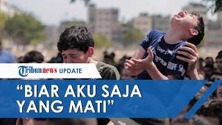 Tangis Histeris Bocah Palestina, Ayahnya Tewas karena Roket Israel: Ayah, Biar Aku Saja yang Mati