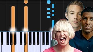 "LSD   ""Genius"" Ft. Sia, Diplo, Labrinth Piano Tutorial   Chords   How To Play   Cover"
