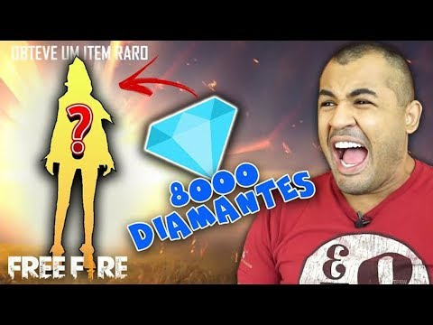 GASTEI 8 MIL DIAMANTES PRA GANHAR A MELHOR SKIN  - FreeFire (Valendo R$ 50,00)