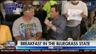"""Man interrupts FOX NEWS LIVE with a """"FOX LIES"""" sign! LMAO"""