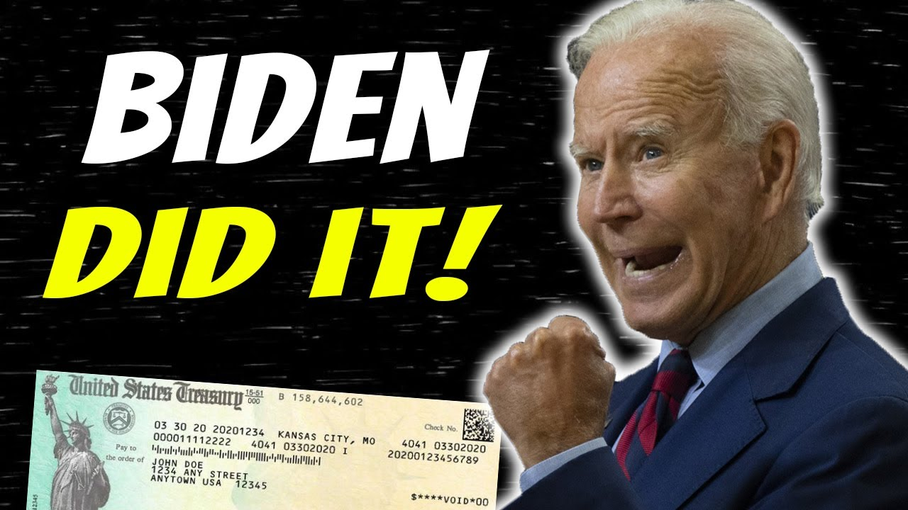 BIDEN DID IT! Stimulus Check Update & Stimulus Package News | Student Loans & More - Aug 19 thumbnail