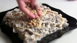 Салат  ореховый  с кальмарами | Просто вкусно