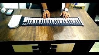 KEYBOARD PIANO 49 KEYS ELECTRONIC ROLL UP SOFT KEYBOARD PIANO-BLACK