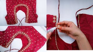 How To Make Designer Blouse At Home||Stone work Blouse Design