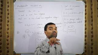 Group theory - Multiplication Modulo m in Hindi