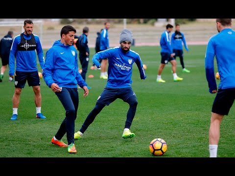 Juanpi, duda en el Málaga para jugar en Eibar por lesión