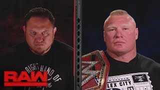 Brock Lesnar and Samoe Joe's split-screen interview gets intense: Raw, July 3, 2017