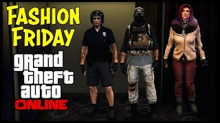 GTA 5 Online FASHION FRIDAY + New Glitch! (Urban Apocalypse Sniper, 21 Jump Street, The G.I. & More)