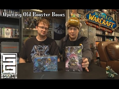 Opening old World of Warcraft TCG Booters and Raid Deck