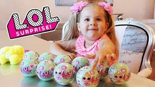 Baby doll LOL surprise, Surprise eggs toys play