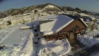 山梨県大雪災害都留文科大学前駅2/17マルチコプター空撮02