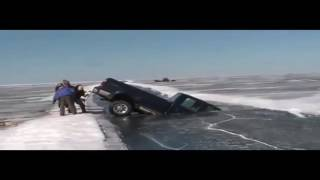Vehicles Falling Through Ice Compilation