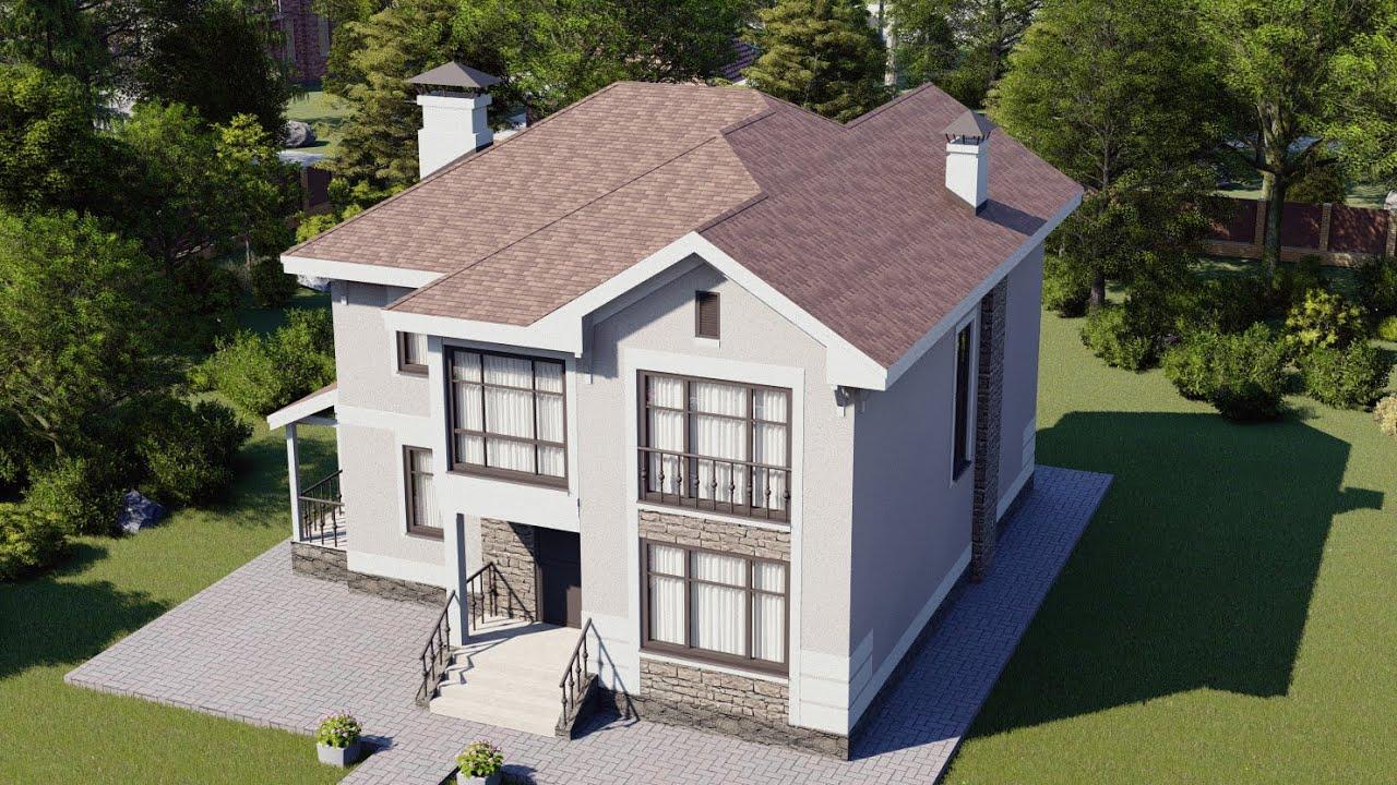 Двухэтажный дом из газоблока 138 кв.м