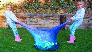 Mezclamos todos los Slime dentro de un wubble pelota gigante Las Ratitas SaneuB