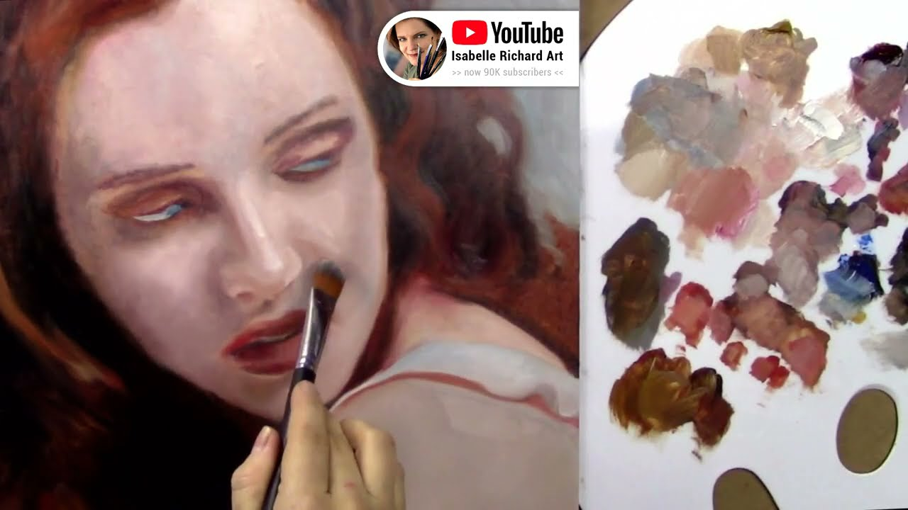 realistic oil painting portrait technique by isabell richard