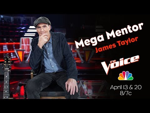James Taylor as the Mega Mentor on NBC's The Voice