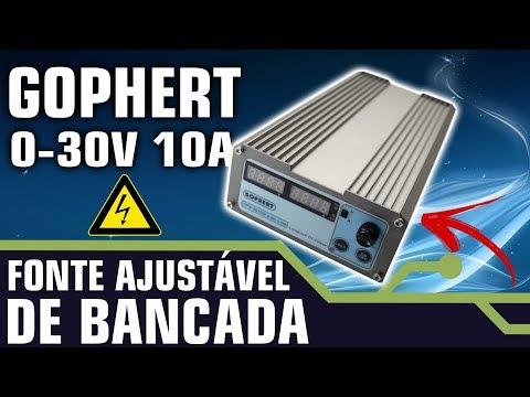 FONTE AJUSTÁVEL DE BANCADA 0-30V 0-10A - ÓTIMO CUSTO BENEFICIO.