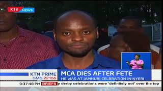 Nyeri's MCA, Peter Weru dies after Jamhuri celebrations