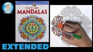 Creative Haven Nature Mandalas By Marty Noble Adult Coloring Book Sun Extended