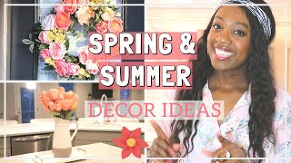 EASY SPRING AND SUMMER HOME DECOR HACKS  Spring Room Decor Tips   Decorate with me for Spring