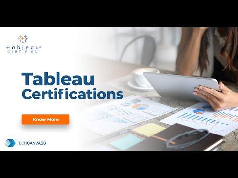 Tableau Desktop and Server Certifications   Techcanvass - YouTube