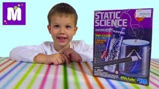 Статическая Наука проводим электрические опыты дома распаковка набора Static Science unboxing set