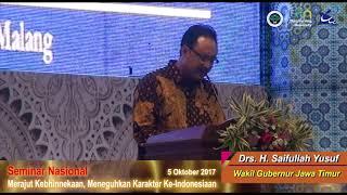 Merajut Kebhinnekaan, Meneguhkan Karakter Ke-Indonesiaan: Sambutan Wakil Gubernur Jawa Timur