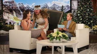 """Model Ashley Graham sat down with Ellen to talk about her inspiring new ellentube digital series """"Fearless,"""" fangirling in front of Jennifer Lopez, and even got a scare from her idol, """"J.Lo.""""  #AshleyGraham #JLo #TheEllenShow"""